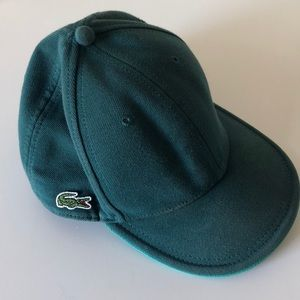 Men's green Lacoste live truckers cap hat baseball